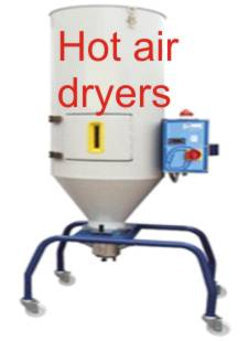 Hot air dryers